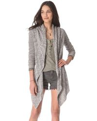 Free People Gray For Keeps Cardigan