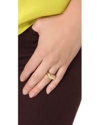 Gabriela Artigas Metallic Signet Ring - Yellow Gold