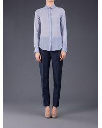 Giada Forte Blue Navy Trousers