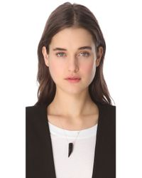 Ginette NY - Black Satisfaction Necklace - Lyst