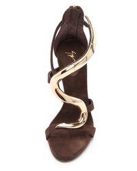 Giuseppe Zanotti Brown Alien Hinged Sandals