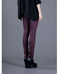 Goldsign Purple Pearl Lace Print Jeans