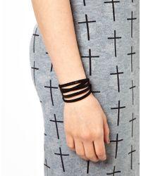 Gorjana - Black Graham Leather Five Wrap Chain Bracelet for Men - Lyst