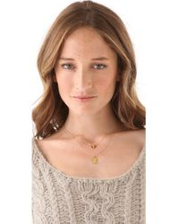 Gorjana | Metallic Taner Pave Bar Necklace | Lyst