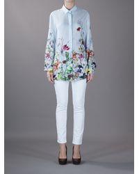 Gucci Multicolor Floral Print Shirt