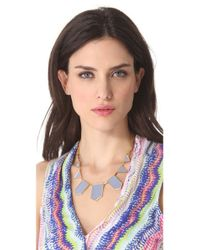 House of Harlow 1960 - Metallic Blue Star Station Necklace - Lyst