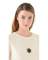 House of Harlow 1960 - Black Sunburst Pendant Necklace - Lyst