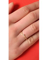 Jacquie Aiche Metallic Double Diamond Bezel Twisted Wrap Waif Ring