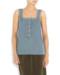 J.Crew | Blue Cottonchambray Tank | Lyst