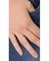 Jennifer Meyer - Metallic Diamond Open Heart Ring - Lyst