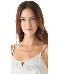Jennifer Zeuner Metallic Diamond Sapphire Eye Necklace