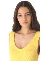 Jennifer Zeuner - Metallic Loved Necklace with Diamond - Lyst