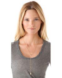 Jennifer Zeuner - Metallic Mini Eye Hamsa Necklace - Lyst