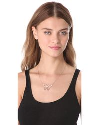 Jennifer Zeuner | Pink Lani Cutout Butterfly Necklace | Lyst