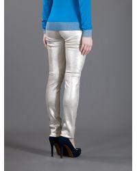 JOSEPH Metallic Brushed Effect Trouser