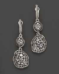 Judith Ripka | Metallic Mercury Double Drop Earrings with White Sapphires | Lyst