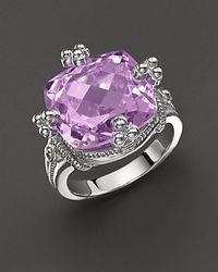 Judith Ripka Purple Olivia Ring with Amethyst Stone
