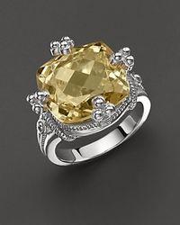 Judith Ripka Yellow Olivia Ring with Canary Crystal Stone