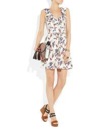 Juicy Couture - White Iris-Print Crepe Dress - Lyst