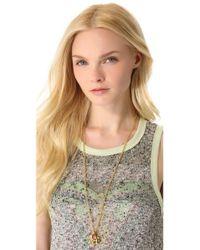 Juicy Couture Metallic Elephant Pendant Necklace