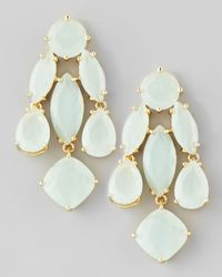 kate spade new york | White Crystal Statement Earrings Seaglass | Lyst