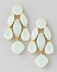 kate spade new york - White Crystal Statement Earrings Seaglass - Lyst