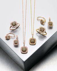 KC Designs - Metallic Champagne & White Diamond Earrings, Yellow - Lyst