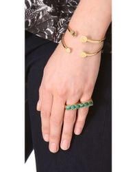 Kelly Wearstler - Green Cabochon Band Ring - Lyst