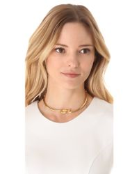 Kenneth Jay Lane - Metallic Polished Knotted Collar Necklace - Lyst