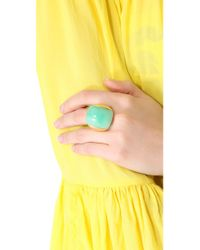 Kenneth Jay Lane Green Dome Ring
