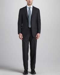 Kiton - Gray Shadowstriped Suit Charcoal for Men - Lyst