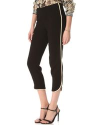 L'Agence Black Ankle Pants with Piping