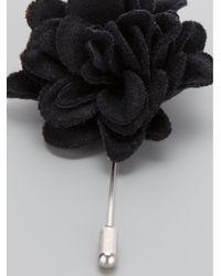 Lanvin | Black Floral Brooch | Lyst