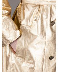 Lanvin Metallic Trench Coat