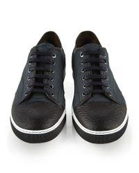 Lanvin Black Python Leather Sneaker for men