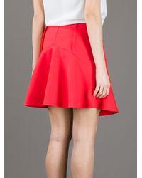 Le Mont St Michel Orange Flared High-Waisted Skirt