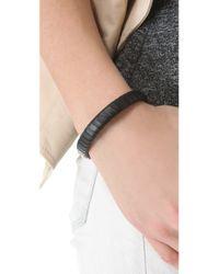 Linea Pelle - Black Jesse Leather Bracelet - Lyst