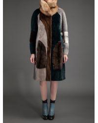 Liska - Multicolor Debbie Fur Coat - Lyst