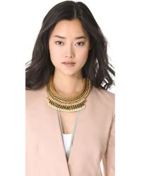 Lizzie Fortunato - Metallic Wheat Field Of Crows Necklace - Lyst