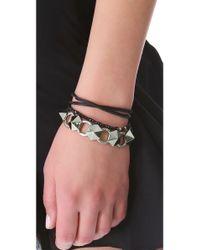 Luv Aj - Green Pyramid Stud Tennis Bracelet - Lyst