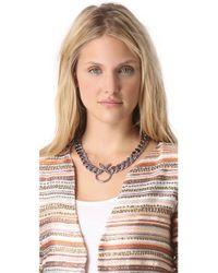 Luv Aj - Purple Crystal Cross Necklace - Lyst