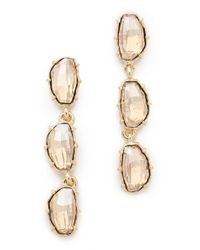 Made Her Think - Metallic Riviere Earrings - Lyst