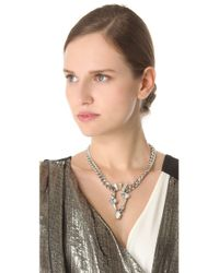 Made Her Think - Gray Inverted Teardrop Necklace - Lyst
