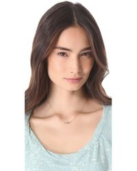 Made Her Think - Metallic Diamond Marquis Necklace - Lyst