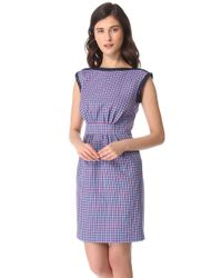 Marc By Marc Jacobs Blue Clover Check Dress