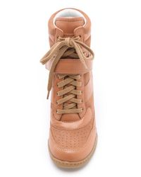 Marc By Marc Jacobs Brown Wedge Sneakers