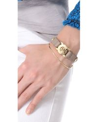Marc By Marc Jacobs - Metallic Bolts Leather Bracelet - Lyst