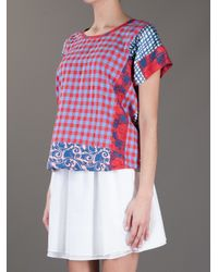Marc By Marc Jacobs Multicolor Molly Check Top