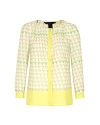 Marc By Marc Jacobs Yellow Womens 205 Burnside Print Talc Shirt