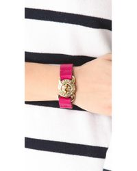 Marc By Marc Jacobs - Red Large Turnlock Leather Bracelet - Lyst